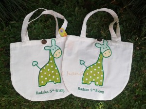 "Goody bag blacu ""giraffe"""