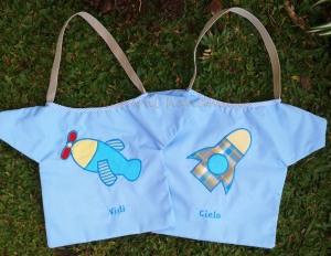"""Goody bag baju aplikasi """" pesawat dan rocket"""""""