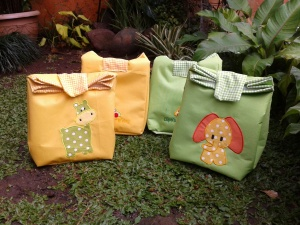lunch bag handmade-paper bag aplikasi
