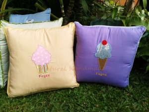 Sarung bantal cupcake dan ice cream
