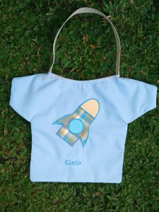 Goody bag handmade-baju-aplikasi rocket