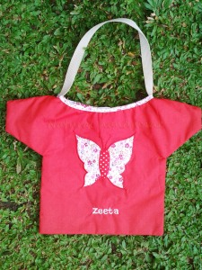 Goody bag handmade-baju-kupukupu