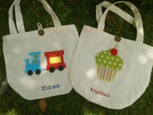 Goody bag handmade-blacu-kereta dan cupcake