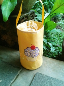 Lunch bag handmade cupcake kuning