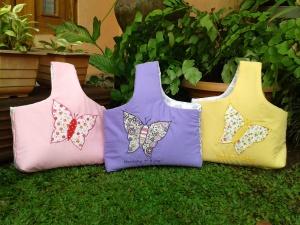 Goody bag handmade-keranjang aplikasi kupu-kupu