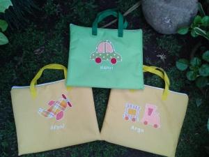 Gadget bag handmade- seri transportasi