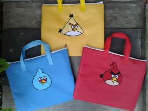 Gadget bag handmade-Angry bird2