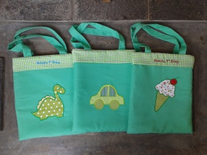 Goody bag handmade-aneka warna-hijau