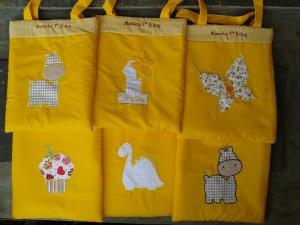 Goody bag handmade-aneka warna-kuning
