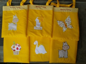 Goody bag handmade-aneka warna-kuning