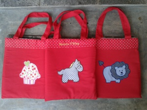 Goody bag handmade-aneka warna-merah