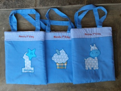 Goodybag handmade-aneka warna-biru