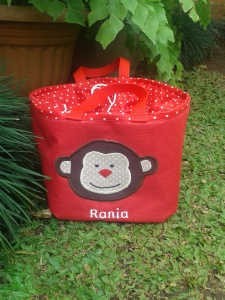 Lunch bag kotak merah