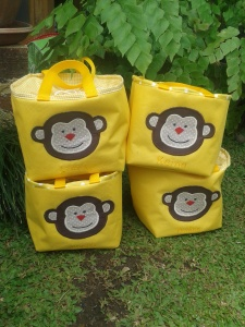 Lunch bag handmade-kotak kuning
