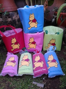 lunch bag handmad- aplikasi pooh