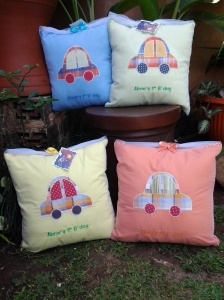 bantal handmade-seri transportasi
