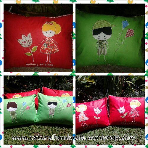 Bantal ulang tahun-boy and girl series