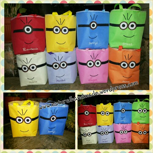 Goodie bag lunchbag kota minion full face