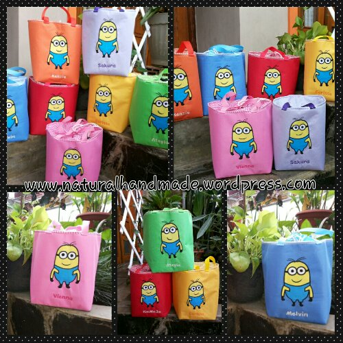 Goodie bag lunchbag kotak minion