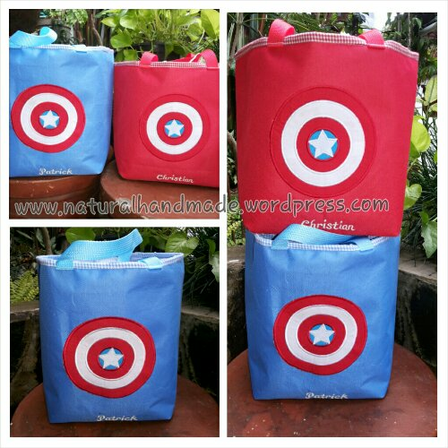 Goody bag lunch bag kotak Captain America
