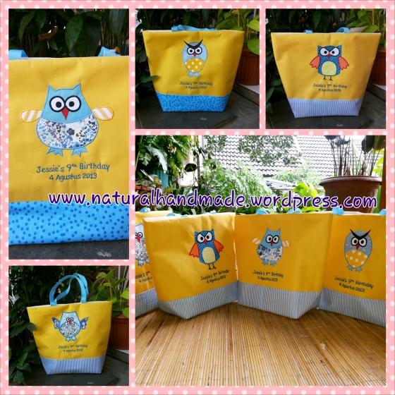 Tote bag ulang tahun-owl