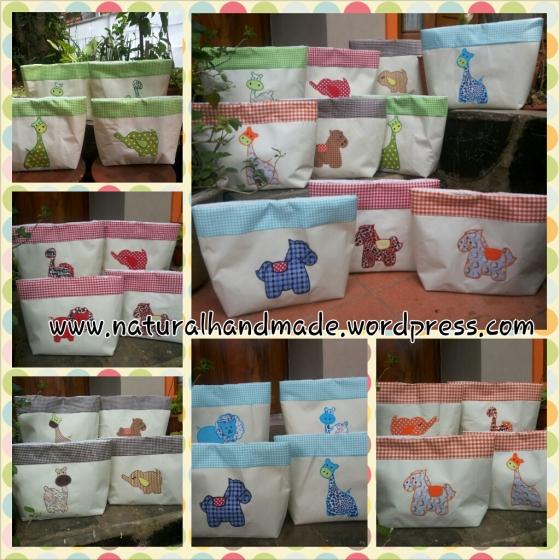 Horizontal Tote Bag animal series