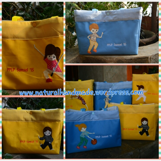 Horizontal tote-sport applique