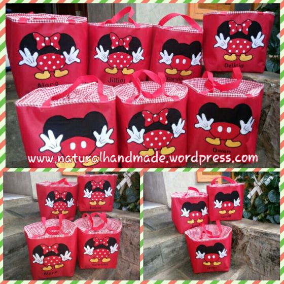 Lunchbag kotak mickey-minnie