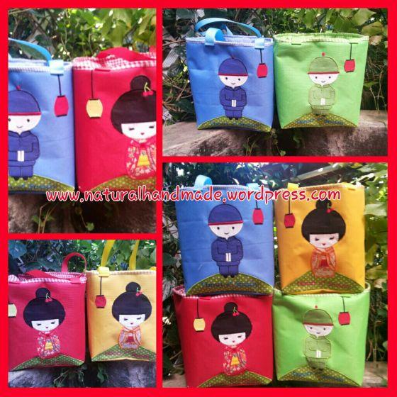 Lunchbag kotak chinesse boy-girl