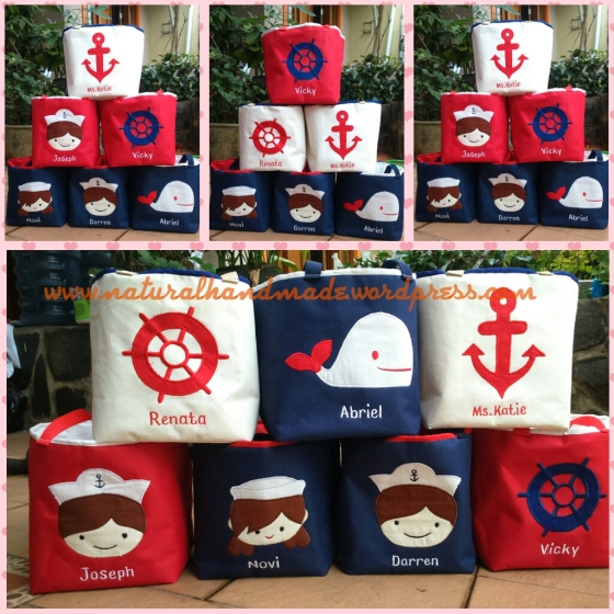 Goodie bag ulang tahun lunch bag sailor