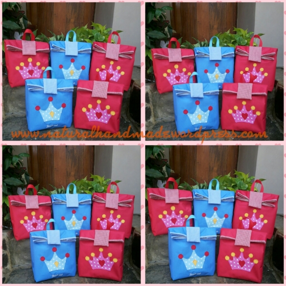 Goodie bag ulang tahun paperbag mahkota