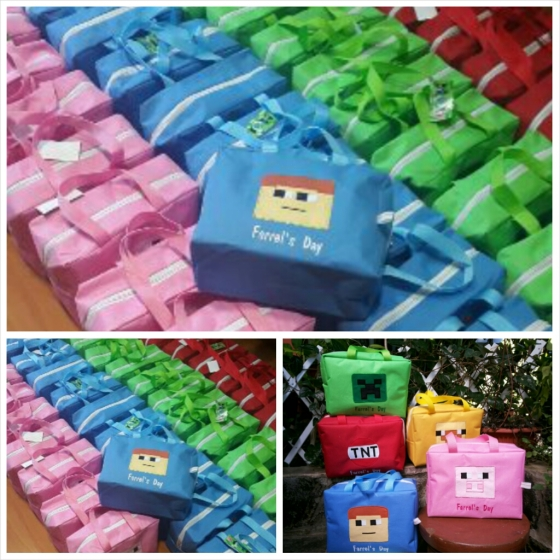Goody bag ulang tahun mini travel bag mine craft