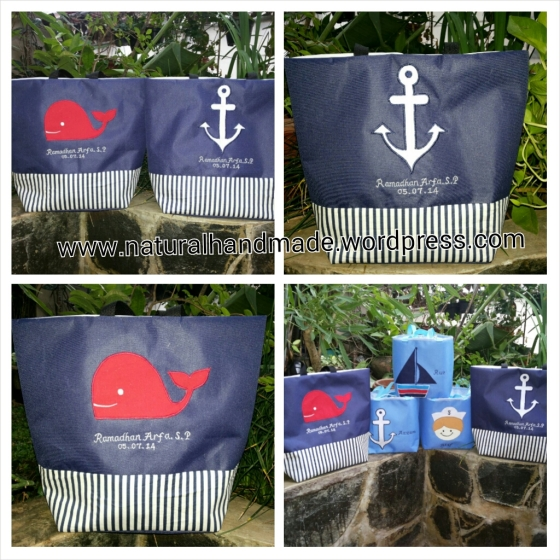 Souvenir ulang tahun totebag sailor series