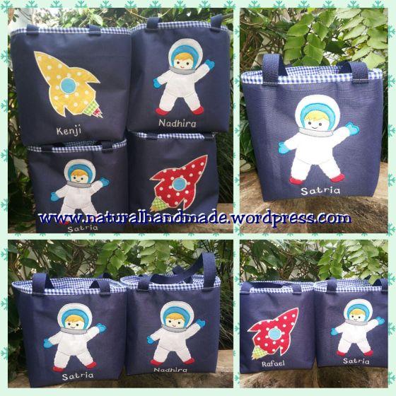 souvenir ulang tahun lunch bag astronot