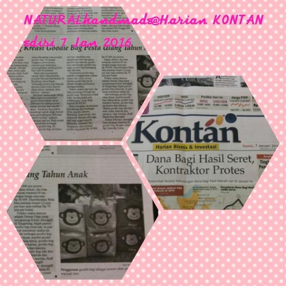 Liputan Kontan untuk natural handmade